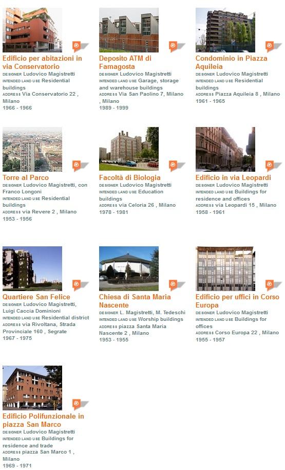 buildings listing