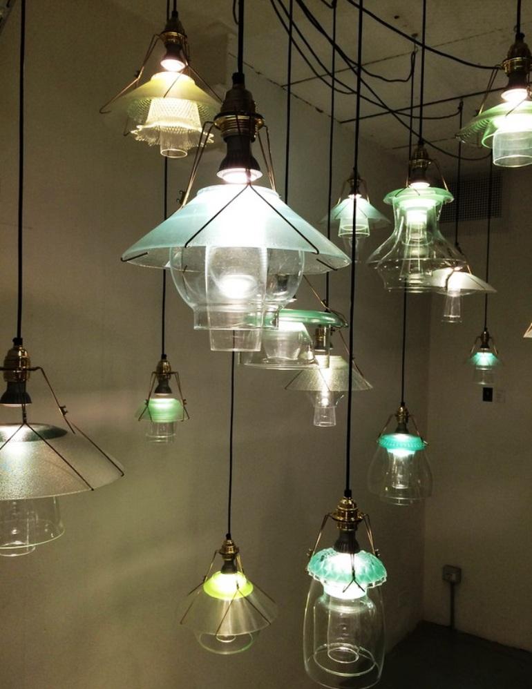 rossana orlandi salone 2014 stacked lamps (1)