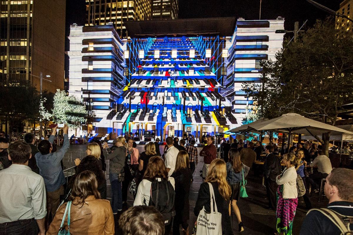 customs house sydney Vivid festival 2014 Play Me (3)