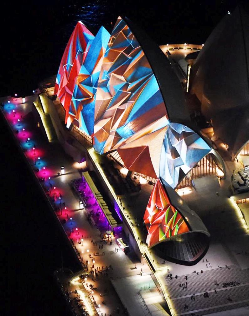 lighting the sails sydney opera house vivid 2014 (4)