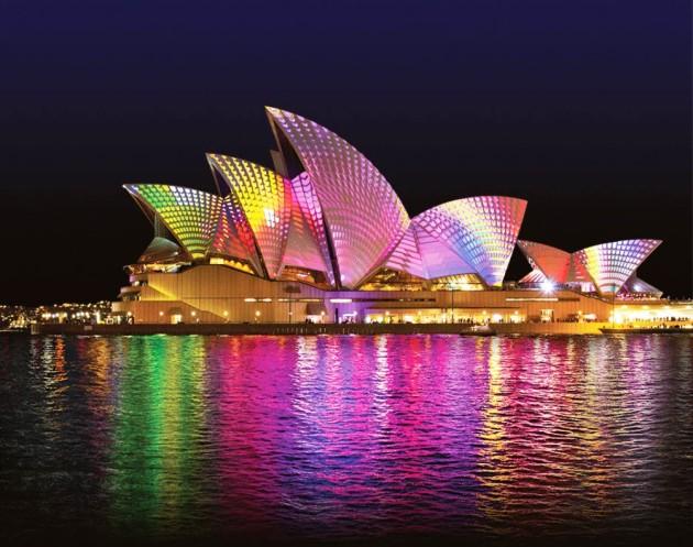 Lighting the Sails @ Vivid Sydney 2014