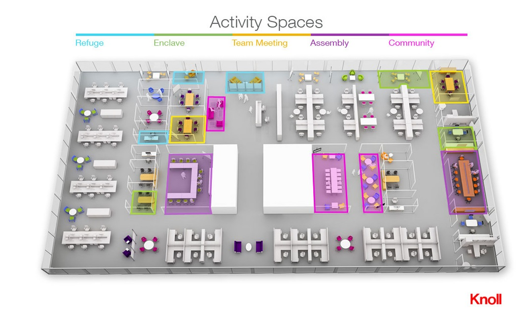 activity spaces interactive layout