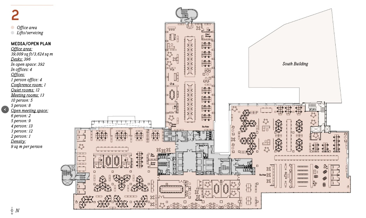 building offices floor plan