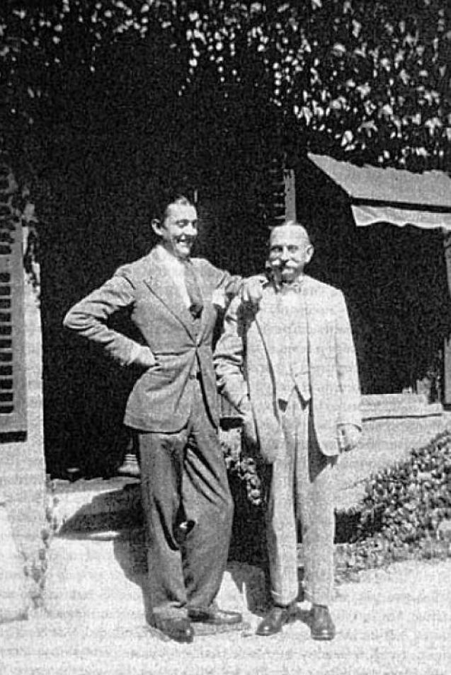 jacques tati and his father george in 1931