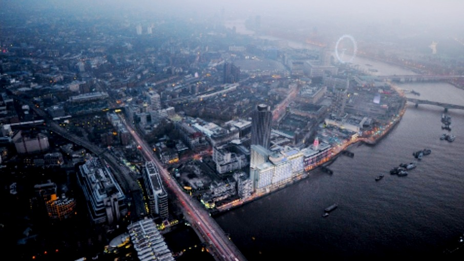 sea containers aerial