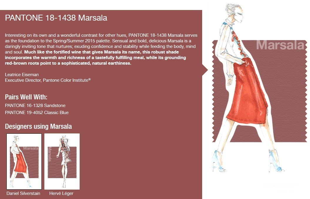 2015 spring colour report marsala