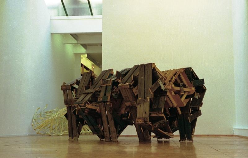 rhinozerous museum piece