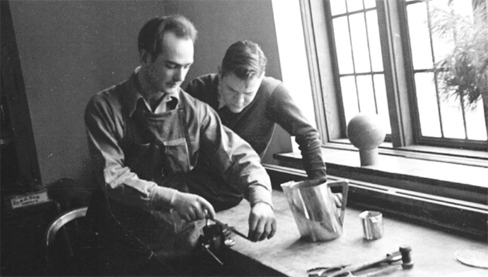 Bertoia Teaching at Cranbrook 1940