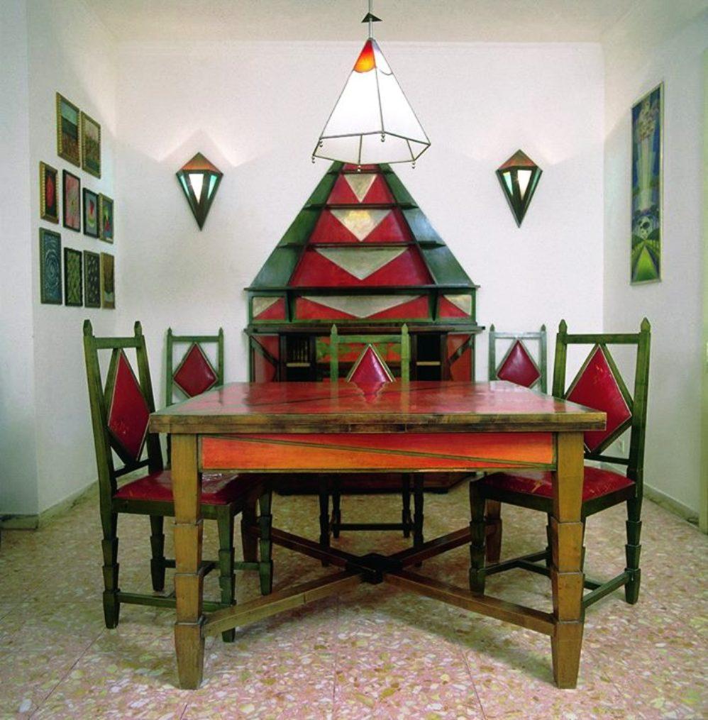 "Dining room ""Casa Cimino"" by Gerardo Dottori, early 1930s"