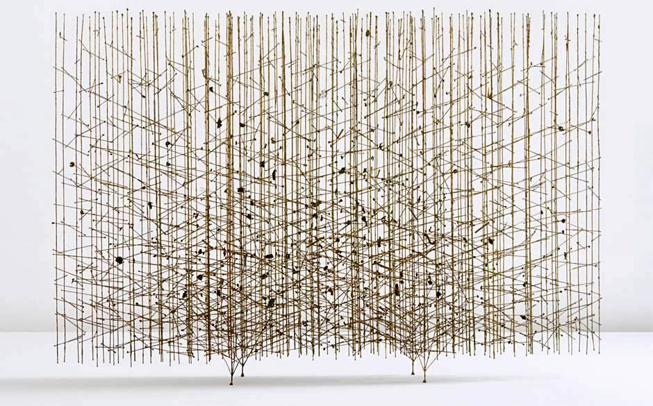 "Golden Rods,"" a melt-coated wire sculpture by Harry Bertoia, circa 1959"