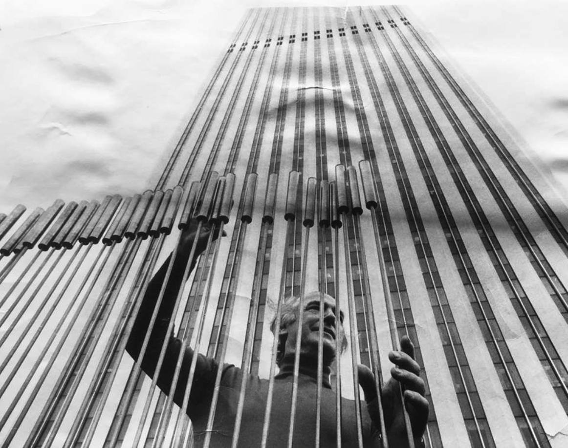 Harry Bertoia, 1975 Sonambient  Sounding Sculpture for the Standard Oil Plaza, Chicago, Illinois.