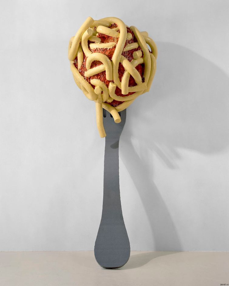 Leaning Fork with Meatball and Spaghetti II by Claes Oldenburg and Coosje van Bruggen, 1994