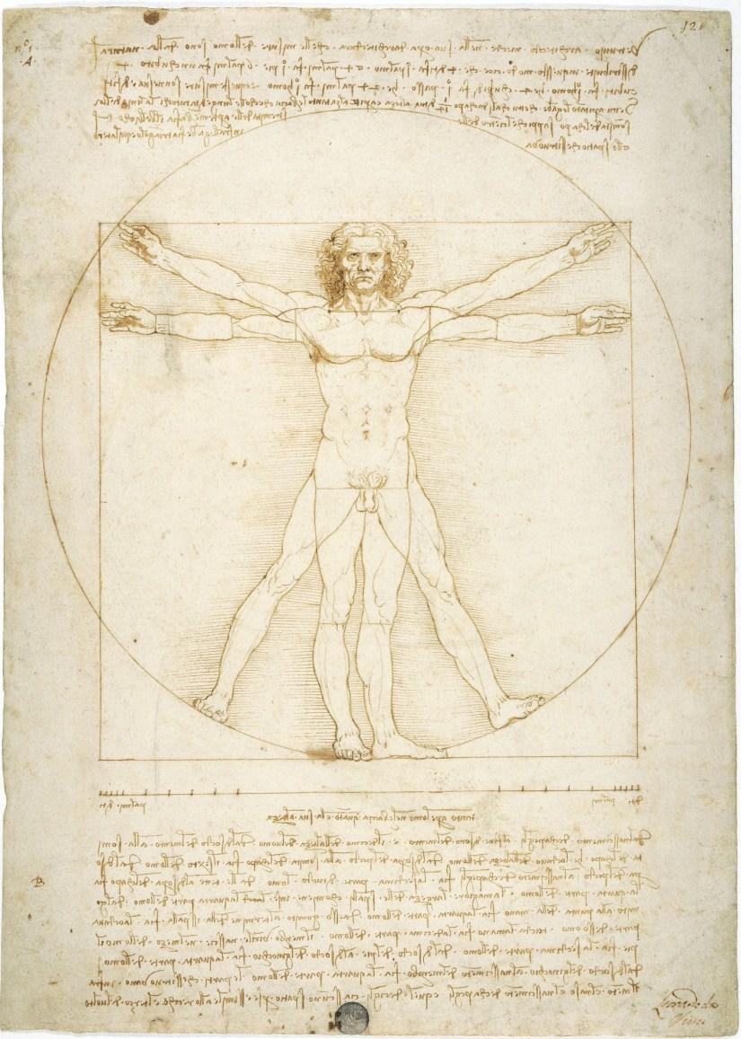 Leonardo-1452-1519-veduta-della-mostra-presso-Palazzo-Reale-Milano-2015-Leonardo-da-Vinci-Uomo-vitruviano-1490-ca