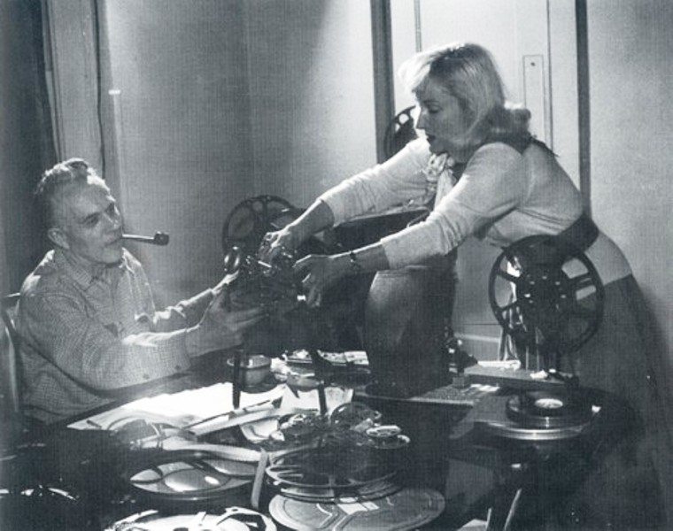 Madeline Tourtelot and bertoia in the studio
