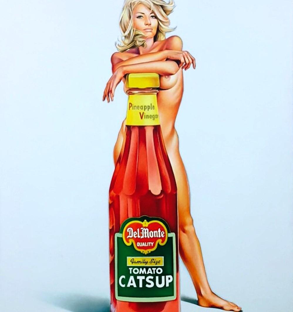 Mel Ramos Della Monty 1971-Oil on canvas
