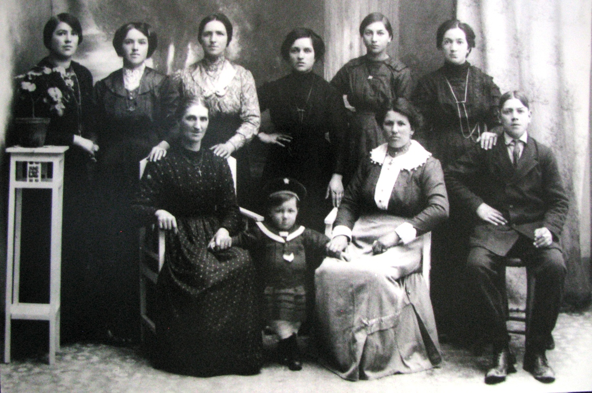 Mussio family Above from left Alice, Irene, Caterina, Maria (Harry's mother), Grazia and Celeste Mussio