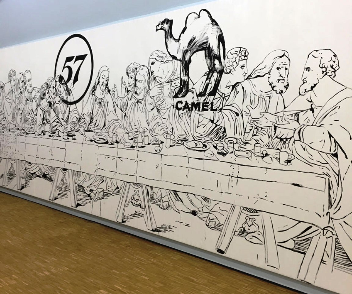 Warhol the last supper camel 57 1986 triennale