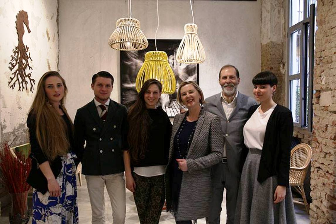With Fiammetta Parravicini, Elia Bonacina, Margherita L. Bonacina and Antonia Bonacina at Via Melzo 3 Milano.