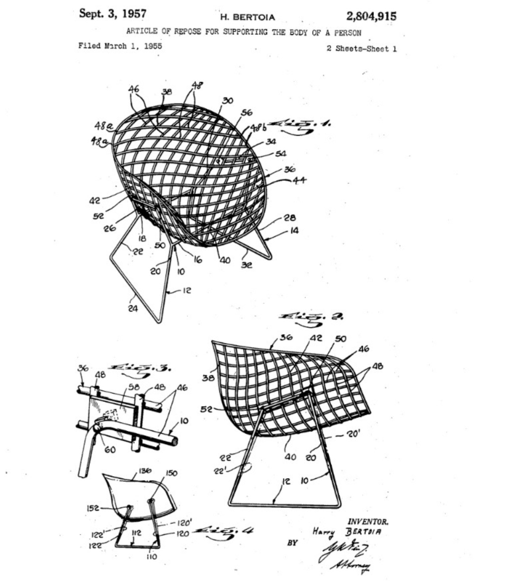 bertoia chair patent