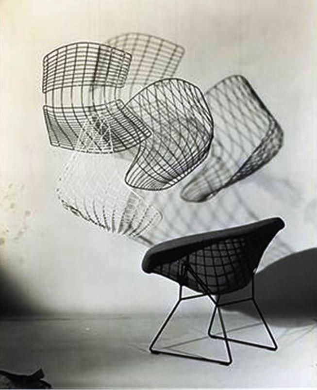 bertoia chairs 1952 by herbert matter