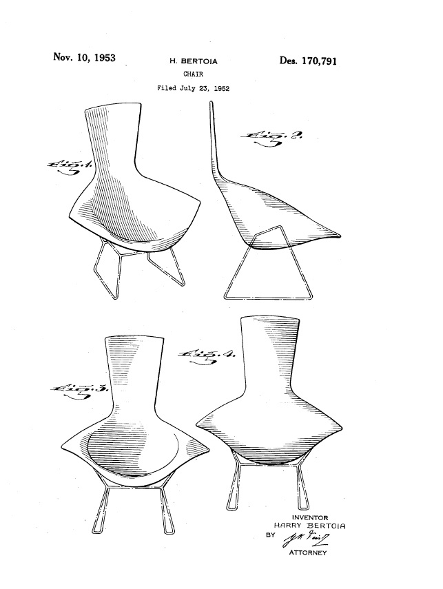 bird chair patent 1