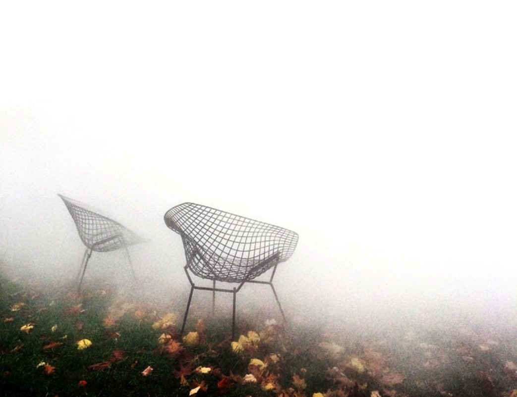 chairs in the mist