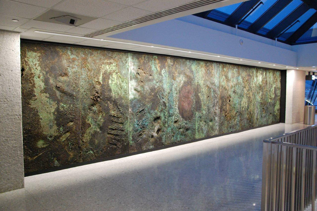 dulles airport feature wall panels