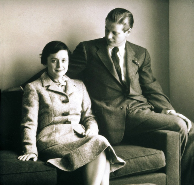 florence and hans knoll in 1950