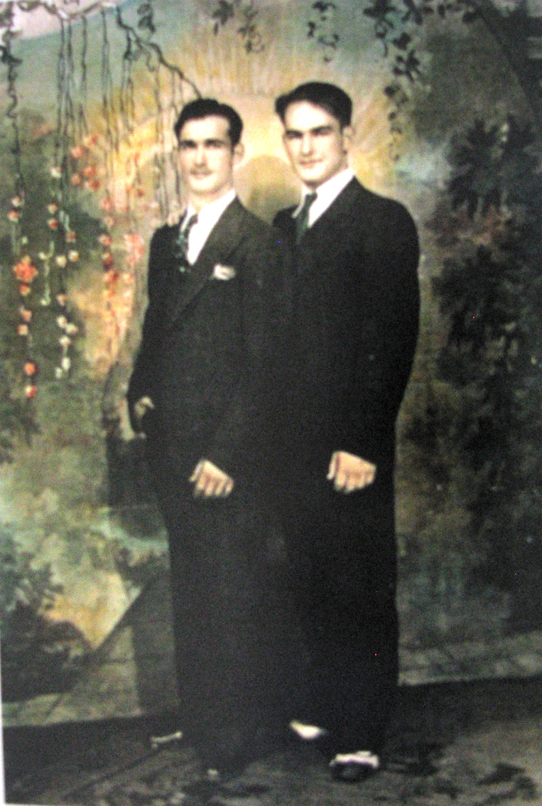 harry (r) and his brother oreste 1935