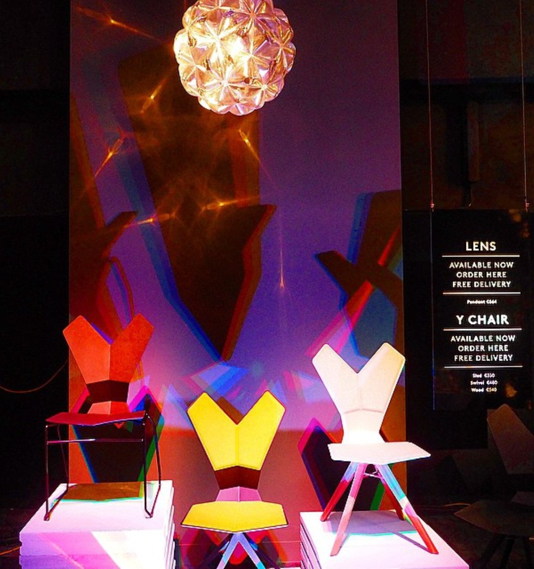 lens and Y chairs tom dixon