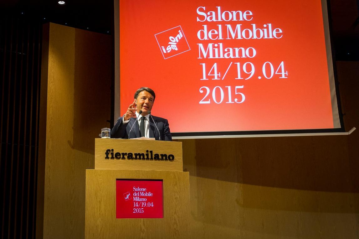 prime minister matteo renzi at salone 2015