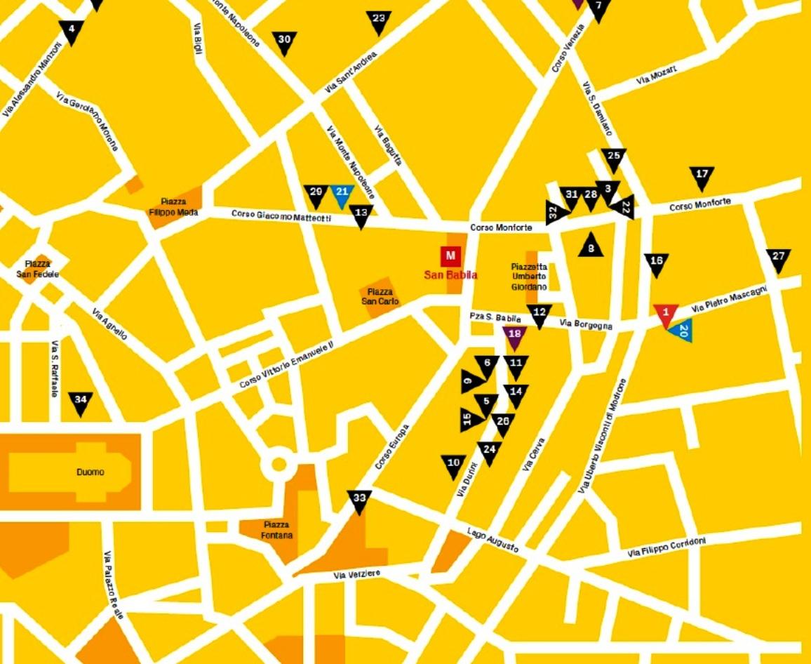 san babila map