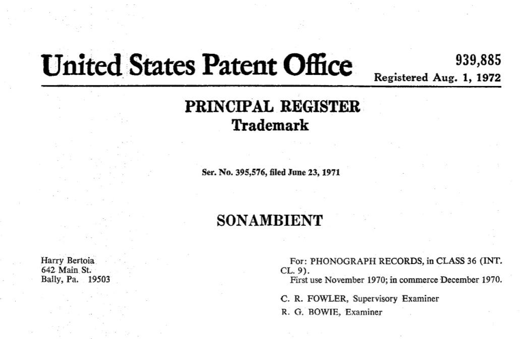 sonambient patent