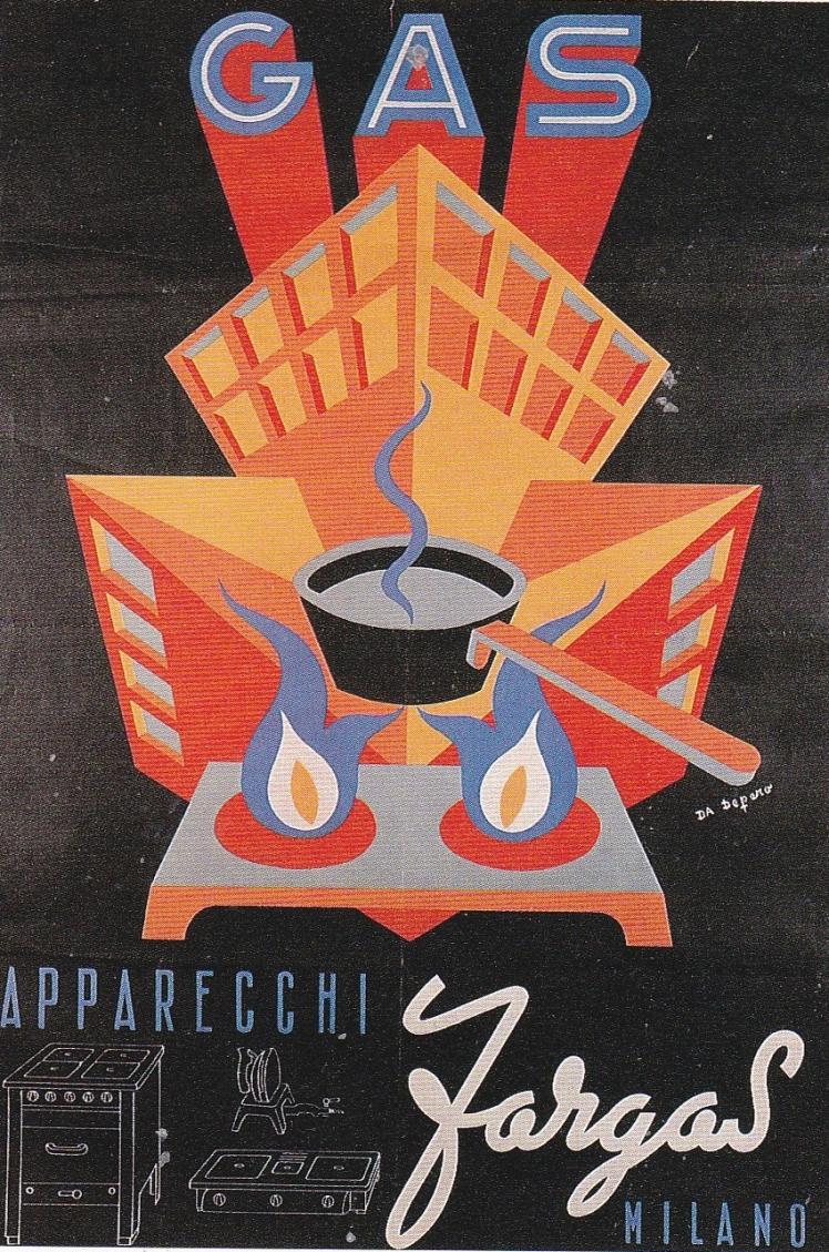 1947 Depero Gas apparecchi Fargas
