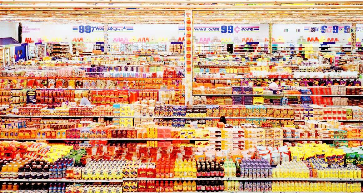 Andreas Gursky, 99 Cent II (Diptychon), 2001,
