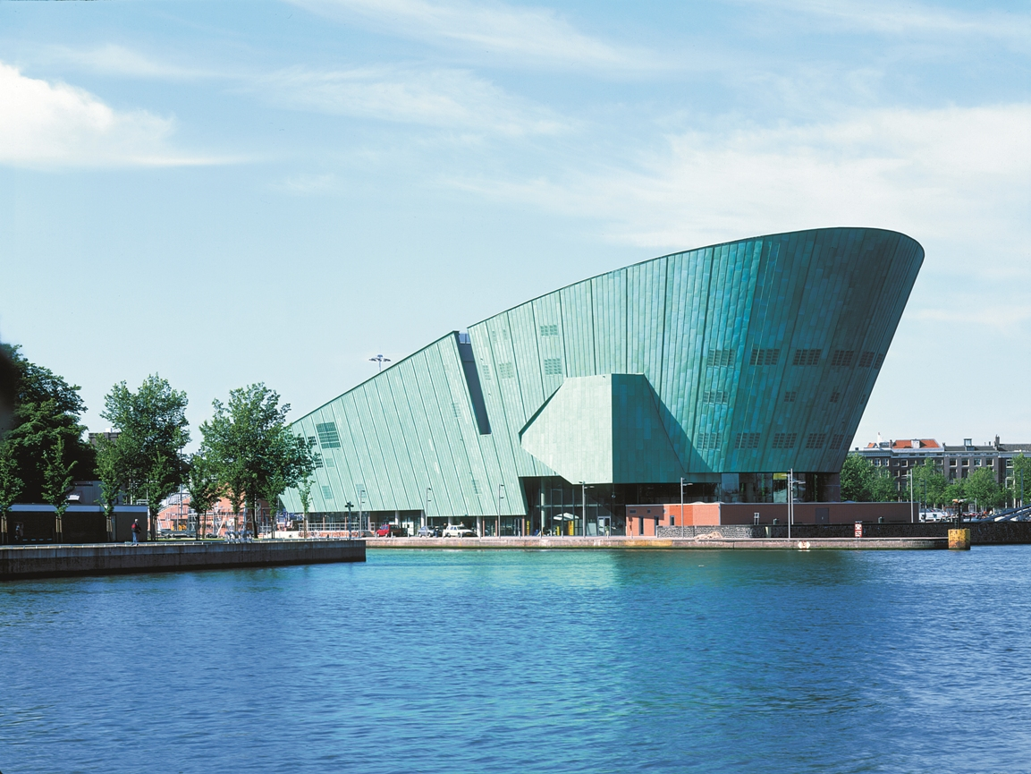 NEMO science centre building in Amsterdam, by Renzo Piano Building Workshop architects