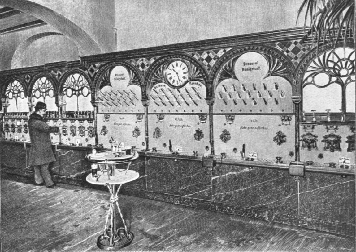 Stollwerck Automaten restaurant 1896