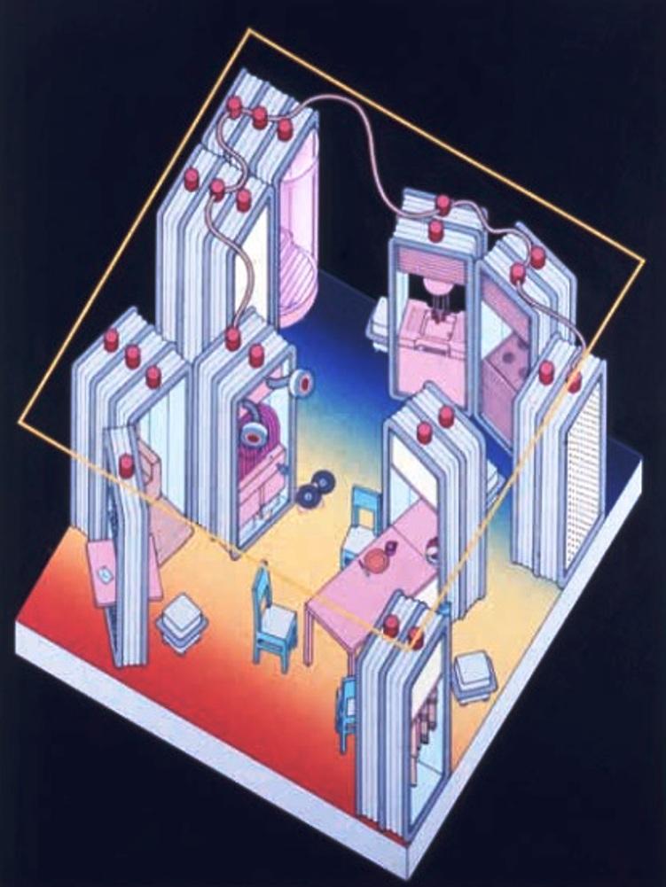 ettore sottass microenvironment 1971