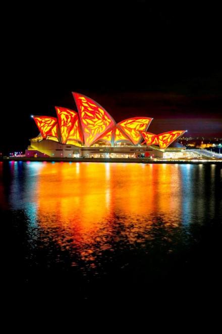 Lighting the Sails @ Vivid Sydney 2015
