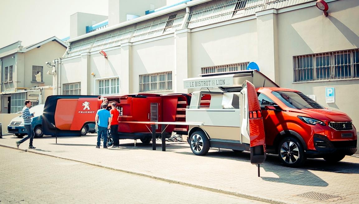 peugeot food truck salone milan 2015