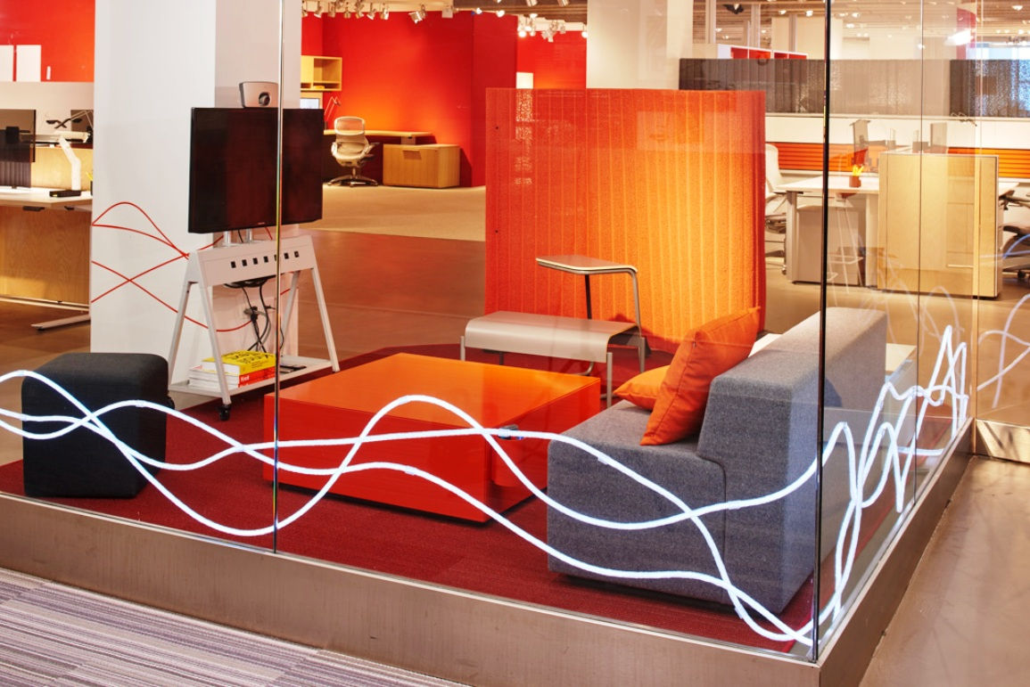 Knoll NeoCon 2015 activity space k lounge popup