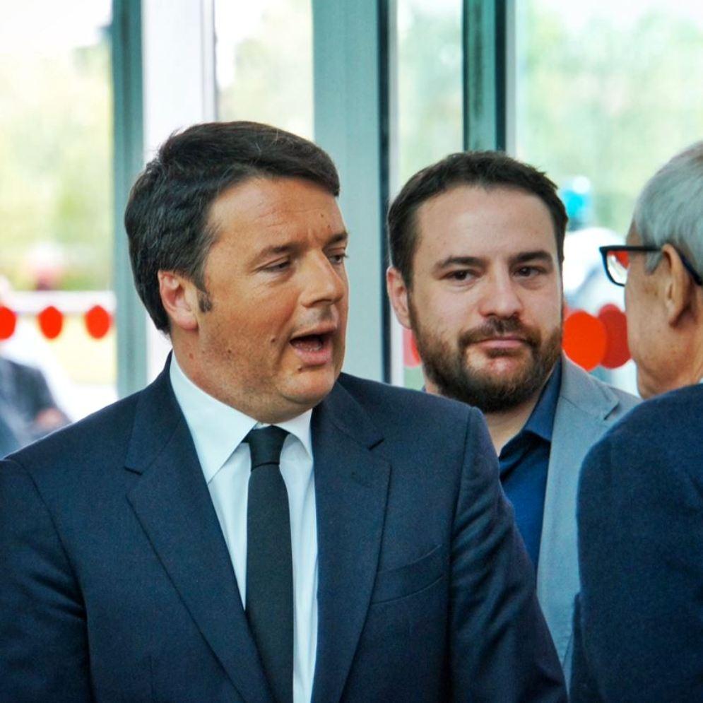 Prime Minister Matteo Renzi visiting Fiera Milano,