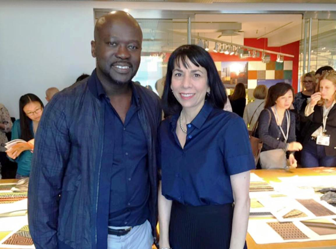 knoll neocon 2015 Dorothy Cosonas and David Adjaye (2)