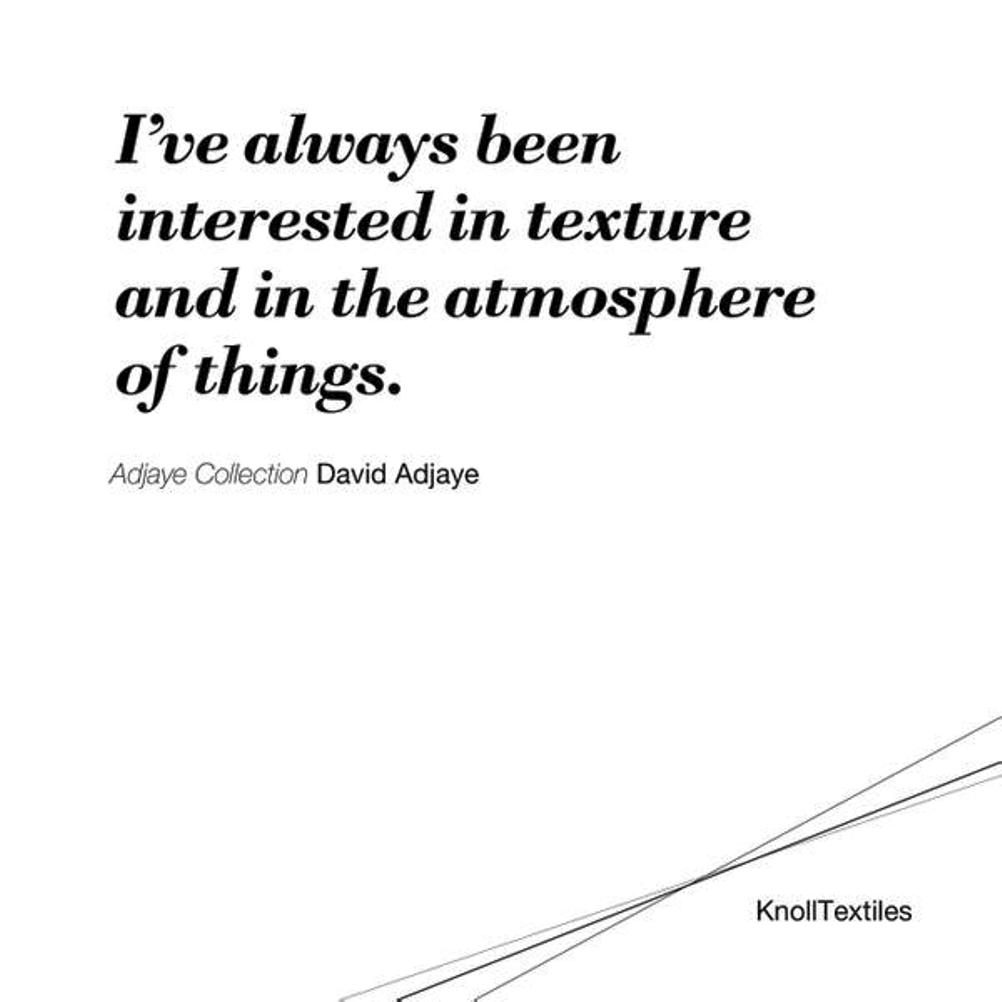 knoll neocon 2015 david adjaye quote