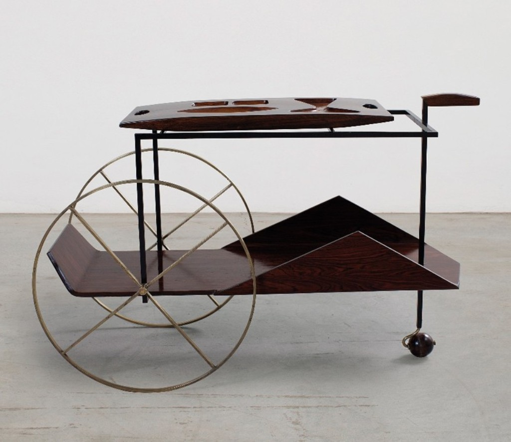 'carrinho de chá' by jorge zalszupin, 1950s