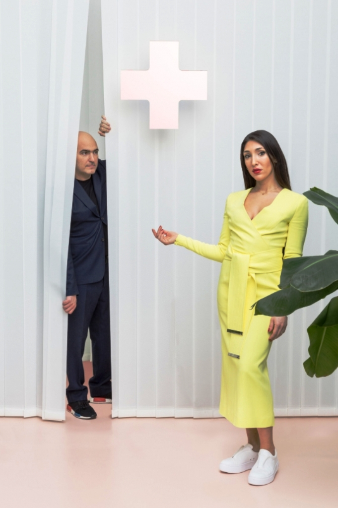 Alberto Biagetti and Laura Baldasarri