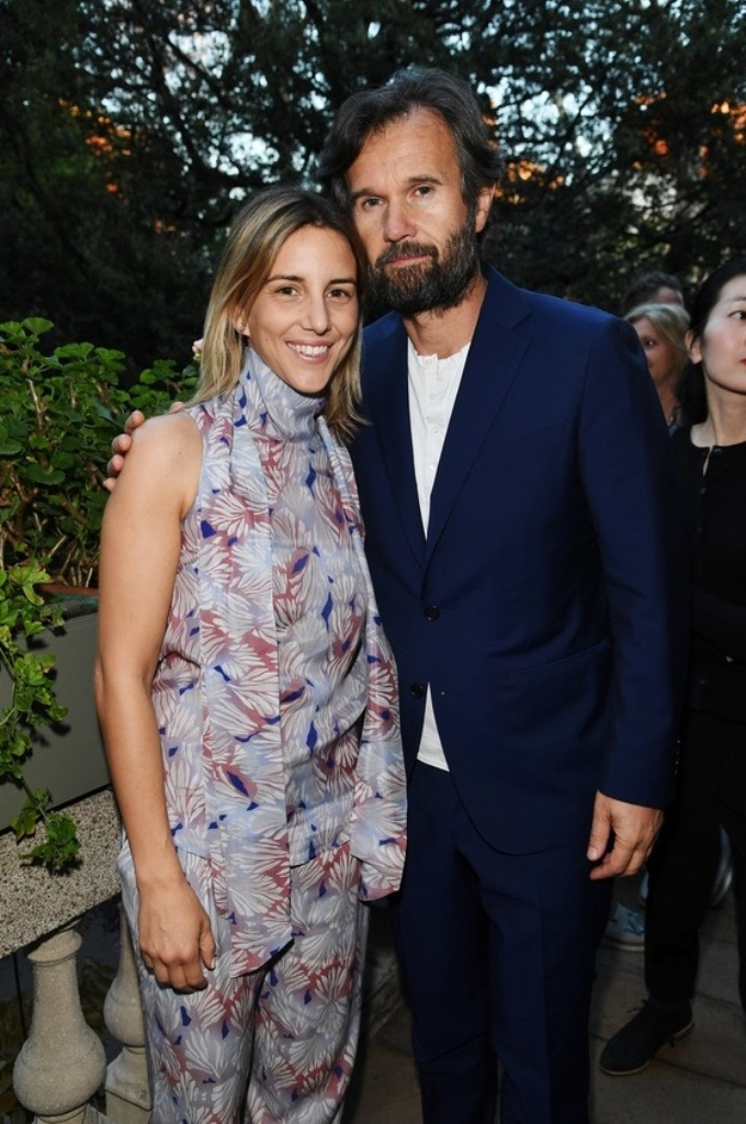 Rosa Fanti and Carlo Cracco