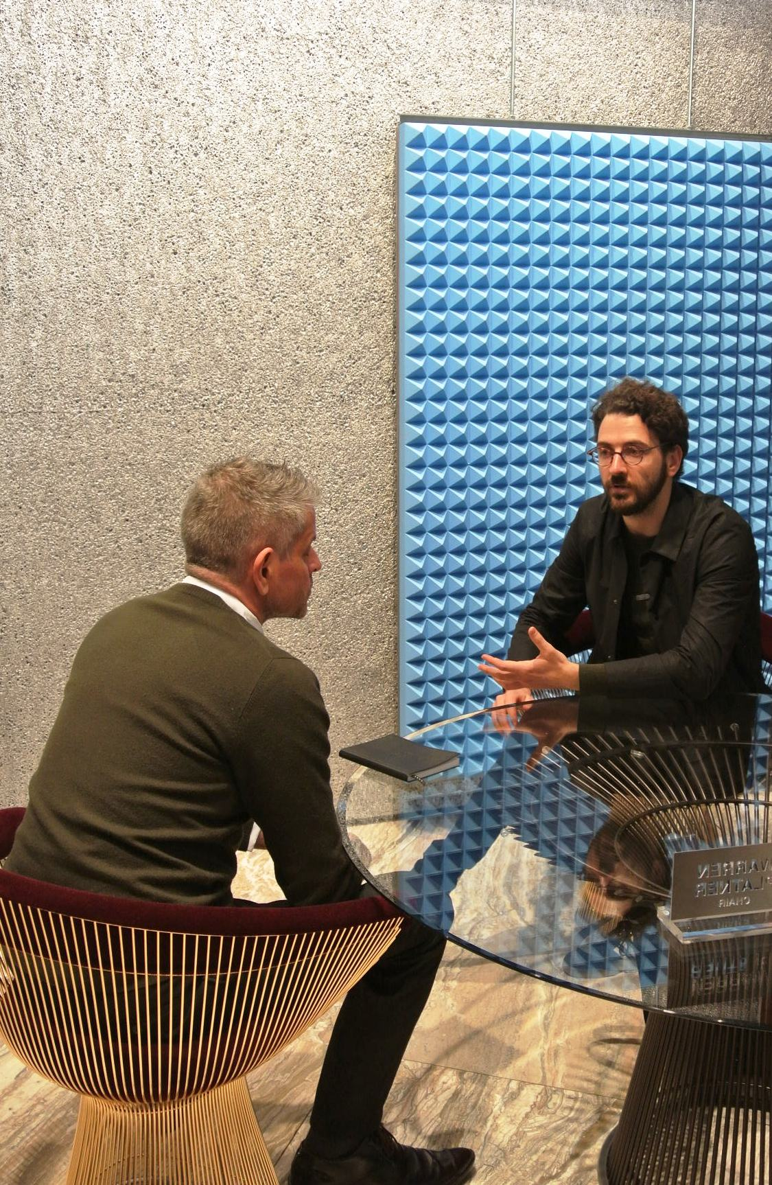 dedece's michael interviewing OMA designer