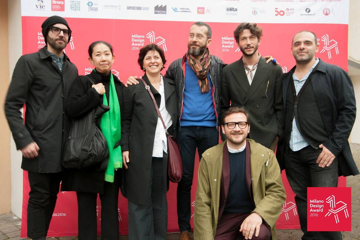 jury and scientific committee with Emiliano Ponzi, Kazuyo Komoda, Valentina Ventrelli, Paolo Ferrarini, Marco Sammicheli, Alberto Nespoli and John Dimatos.