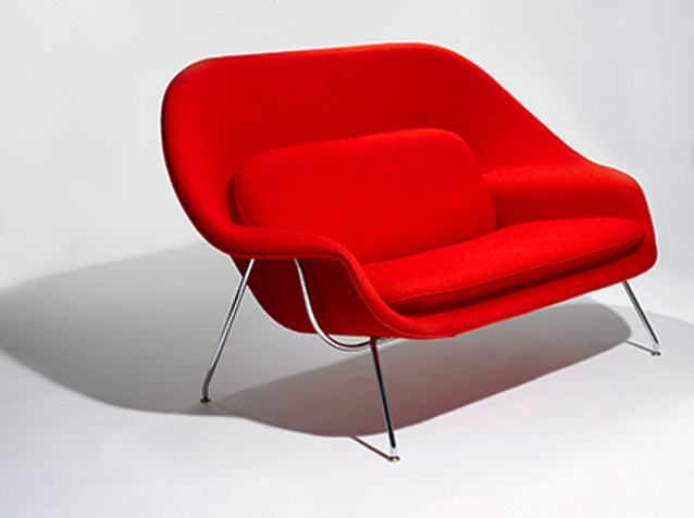 knoll womb settee by saarinen (1)
